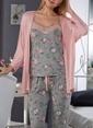 Sevim Pijama Takım Somon